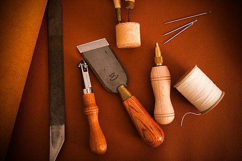 Le travail du cuir.