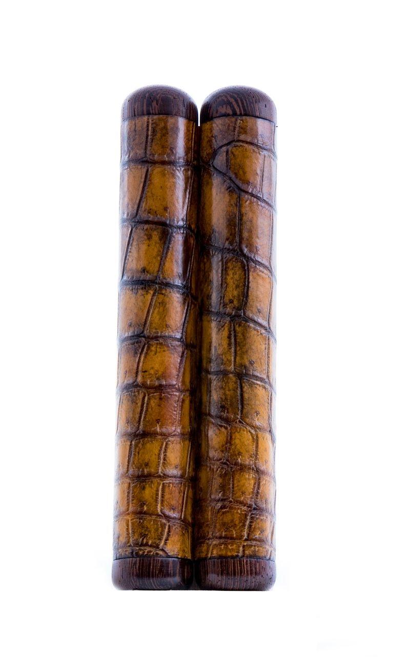 ETUFP-045 Peter Charles Paris Étui croco 2 cigares 60x16
